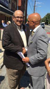 Bob Zakian with Senator Hughes