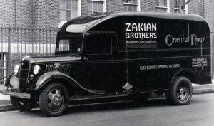 An early Zakian Brothers delivery truck when the business was located on Walnut Street in Philadelphia.
