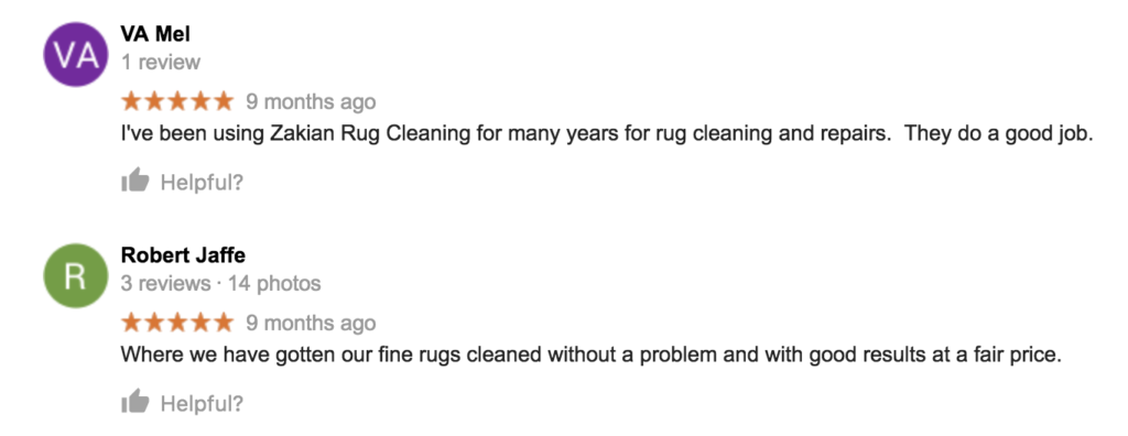 Zakian Rug Cleaning